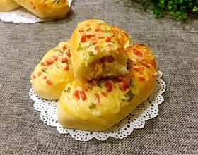 香葱火腿肉松面包(波兰酵种)