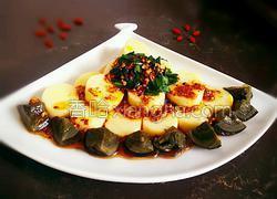 韭菜皮蛋拌豆腐