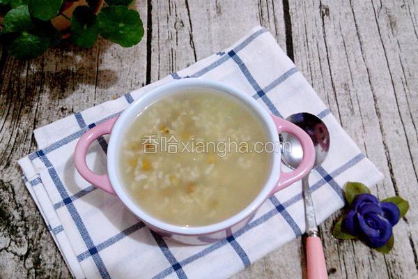 绿豆大米粥