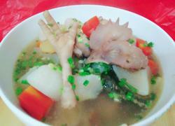 红白萝卜鸡汤