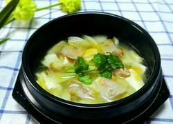 河蚌腊肉豆腐汤