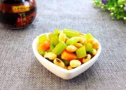 芹菜拌黄豆