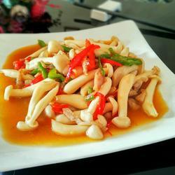 五花肉炒海鲜菇