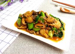 香菇虾皮炒油菜