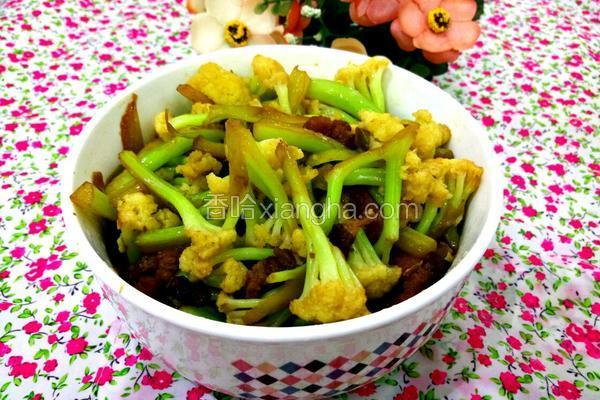 肉丝炒菜花
