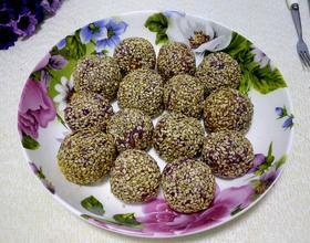 紫薯糯米麻圆