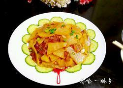 肥肉炒白萝卜
