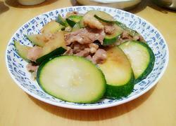 节瓜炒梅头肉