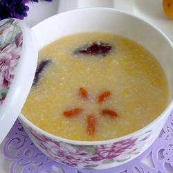 粘玉米渣粥