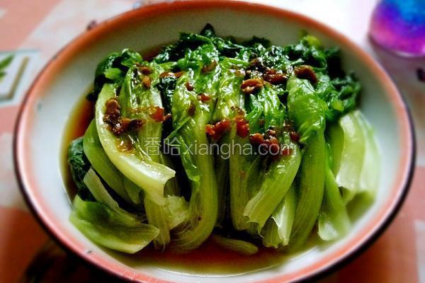 蒜蓉酱油生菜