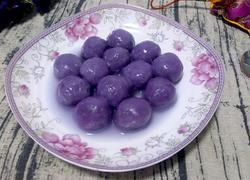紫薯桂花汤圆