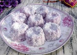 牛奶紫薯椰蓉小凉糕一独家秘制