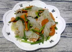 魔芋丝结蒜苔炒肉