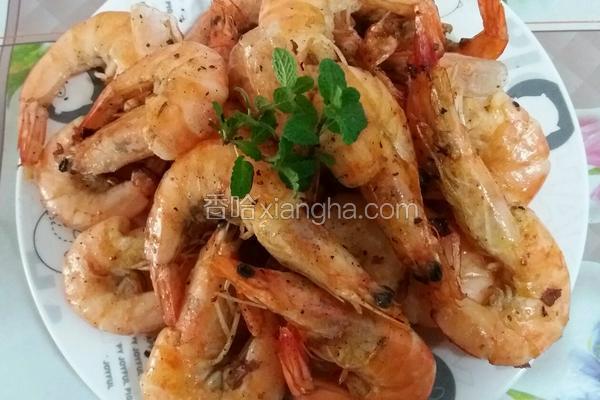 黑胡椒干煎虾
