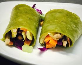营养减脂餐——菠菜鸡胸肉卷