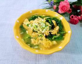 豌豆苗鸡蛋汤