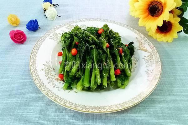 清炒白油菜薹