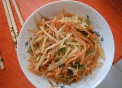 胡萝卜炒土豆丝