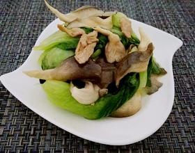 鲜蘑油菜小炒肉