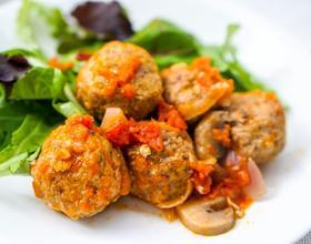 番茄蘑菇肉丸