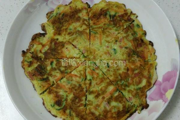杂蔬火腿鸡蛋饼