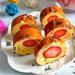 草莓蛋糕卷(电饭锅版)