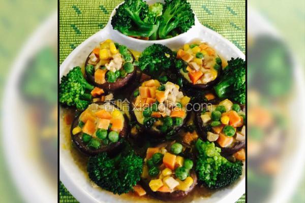 五彩杂粮蒸香菇