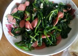 菠菜火腿肠