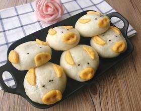 小猪包(黑芝麻馅)