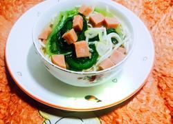 火腿蔬菜面