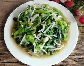 凉拌菠菜豆芽