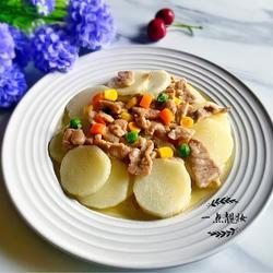 淮山炒肉片
