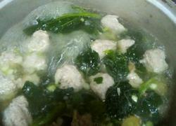 冬寒菜肉丸汤