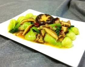 肉末香菇油菜