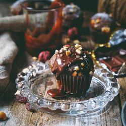 浓郁巧克力咖啡马芬蛋糕