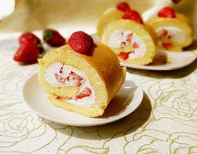 草莓奶油蛋糕卷[图]