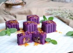 蜜豆桂花紫薯糕