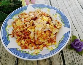 小红虾煎鹅蛋