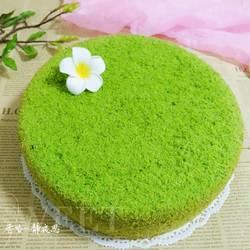 菠菜泥戚风蛋糕