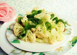 青椒炒有机花菜