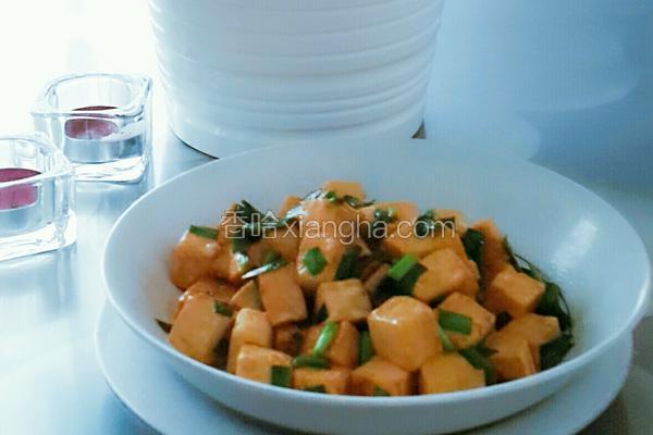 豆腐系列之韭菜烧豆腐