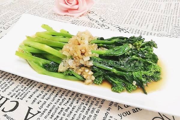 蒜末蚝油菜苔