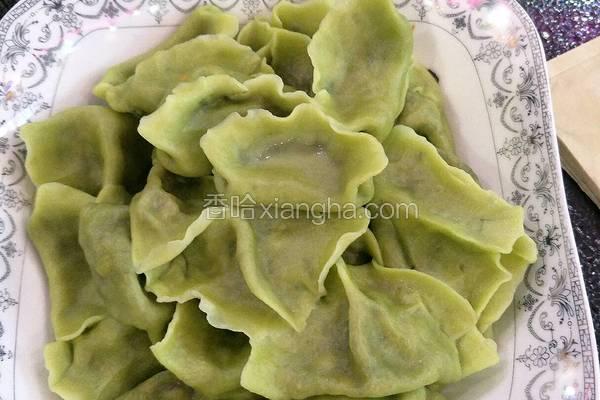菠菜饺子(素馅)