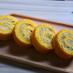 胡萝卜土豆泥蛋糕卷