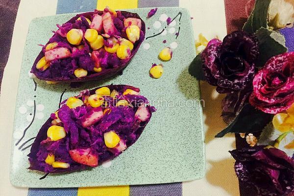 紫薯补丁沙拉