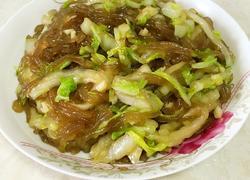 白菜炒红薯粉丝