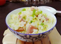 香肠青蔬炒饭