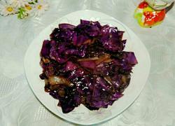 爆炒紫甘蓝