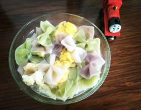 鱼汤蛋花蝴蝶面