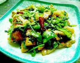 香菜青椒小炒肉